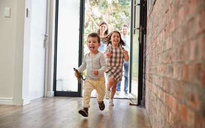 What should you look for in a home with young families?