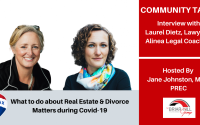 What to do about Real Estate and Divorce Matters during Covid-19